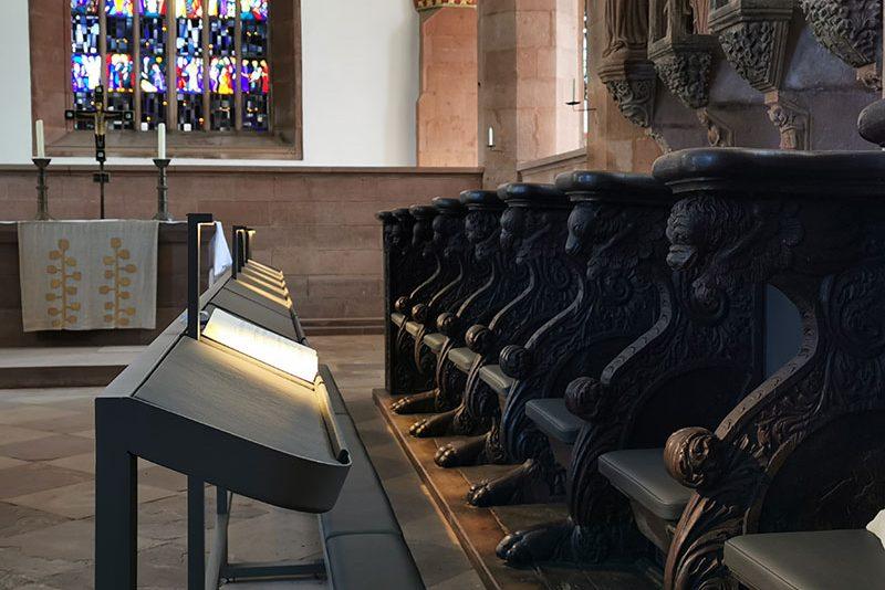 Kloster Amelungsborn: Beleuchtung der Chorgestühle